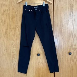 Levi Wedgie Black Jeans